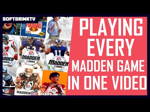 PLAYING EVERY SINGLE MADDEN NFL GAME IN ONE VIDEO!