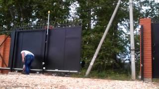 видео: Не нормальная работа привода откатных ворот.