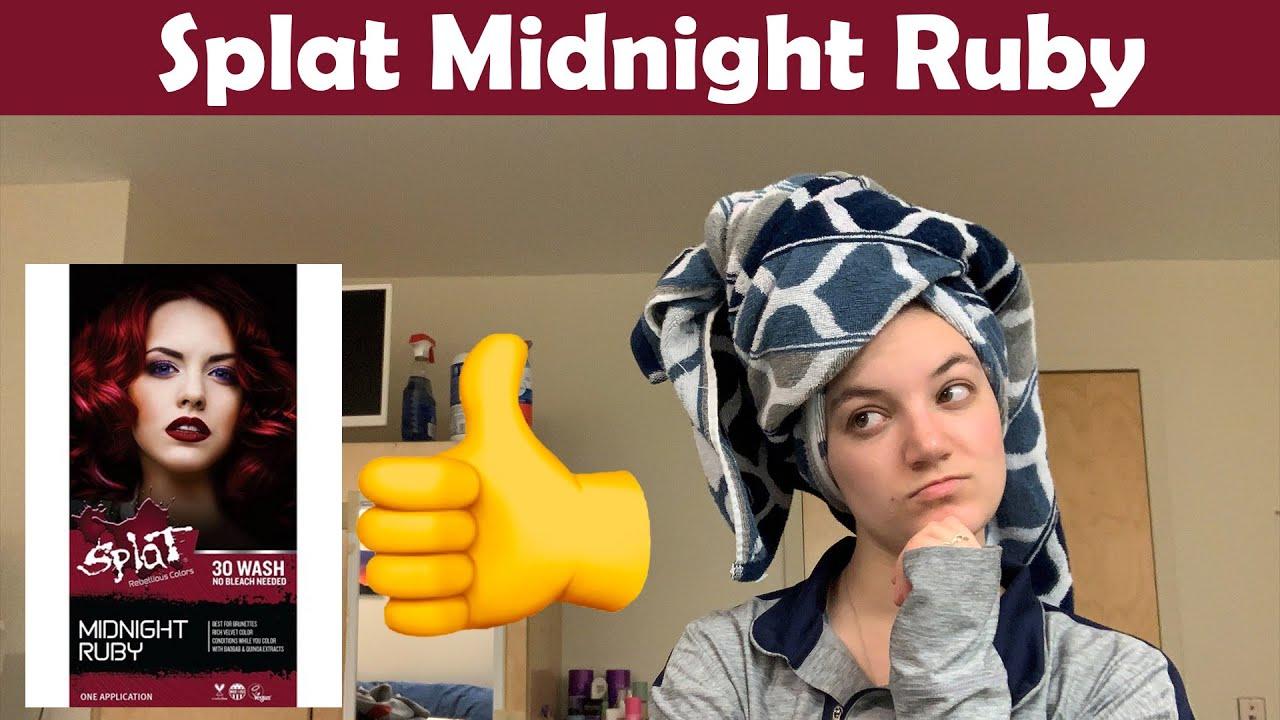 Dying Brown Hair Red Splat Midnight Ruby No Bleach 1 Week Update Youtube