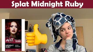 Dying Brown Hair Red | Splat Midnight Ruby | No Bleach | & 1 Week Update!