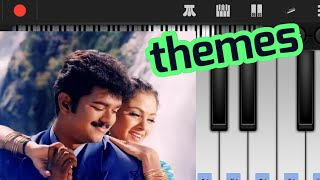 thullatha manamum thullum love BGM piano notes | innisai padi varum | keyboard cover