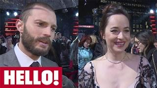 "Jamie Dornan and Dakota Johnson talk about their ""sexier and more thrilling"" 50 Shades Darker"