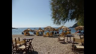 camping on the beach Tarti the Greek island Lesbos