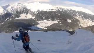 Tony and Caroline skiing Parsenn and Pischa powder Thumbnail