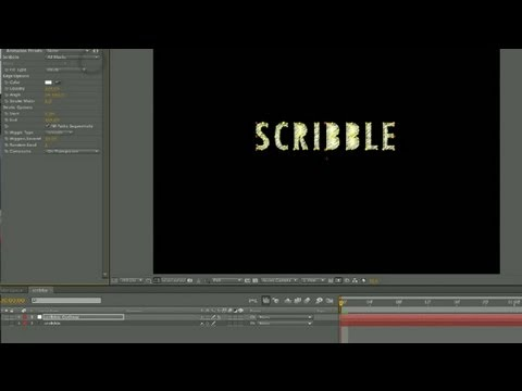 The Scribble Effect With Text In After Effects : Techniques For Adobe After Effects