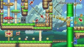 ♥壁キック多めのEASY?40秒SpeedRun!40sec ♥ by ゆきぃ(ゆっきぃ♪) - Super Mario Maker - No Commentary