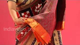 Kanchipuram Saree, Traditional handloom silk saris, Tamil Nadu, India