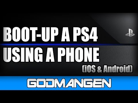 Booting up PS4 by Phone (Available for iOS and Android)