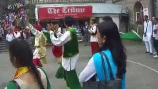PUNJABI BHANGRA PERFORMANCE AT SHIMLA MALL ROAD BY SD SENIOR SECONDARY SCHOOL STUDENTS SHIMLA INDIA