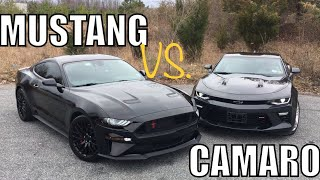 CAMARO OWNER SHOCKED by HOW Good 2018 MUSTANG GT IS!!!
