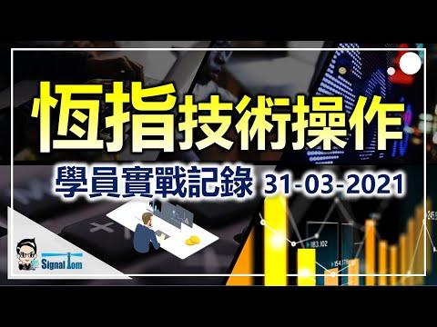 【恆生指數期貨】-教科書級別的走勢|學員專業的買賣水平-31-3-2021