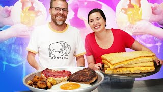 We Tried the Ultimate Giant Food Competition   Homemade Vs the Internet   Well Done