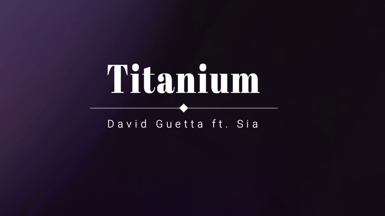 download titanium by david guetta lyrics