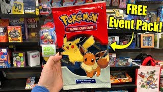 I JUST GOT FREE POKEMON CARDS AT GAMESTOP - New Event Pack Opening!