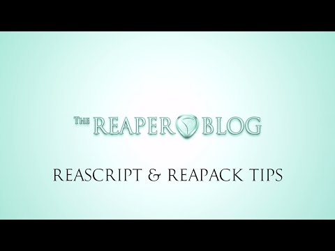 ReaScript & ReaPack Tips