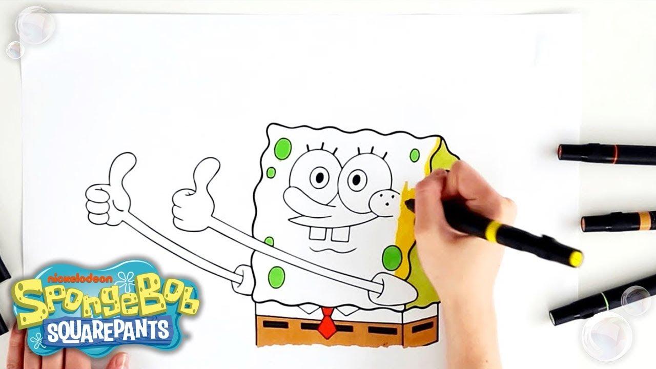 coloring spongebob you bring the color youtube. Black Bedroom Furniture Sets. Home Design Ideas
