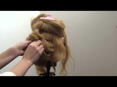 Свадебная вечерняя прическа на средние волосы