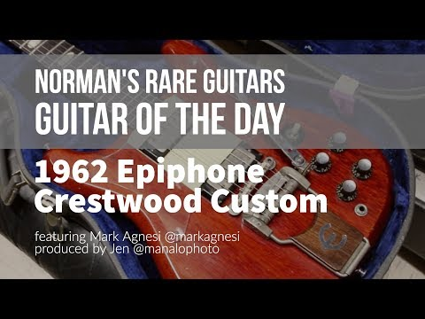 Norman's Rare Guitars - Guitar of the Day: 1962 Epiphone SB332 Crestwood Custom