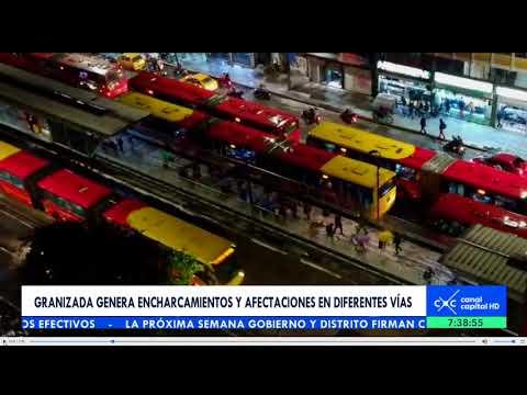 Increíbles imágenes de la granizada que cayó en Bogotá
