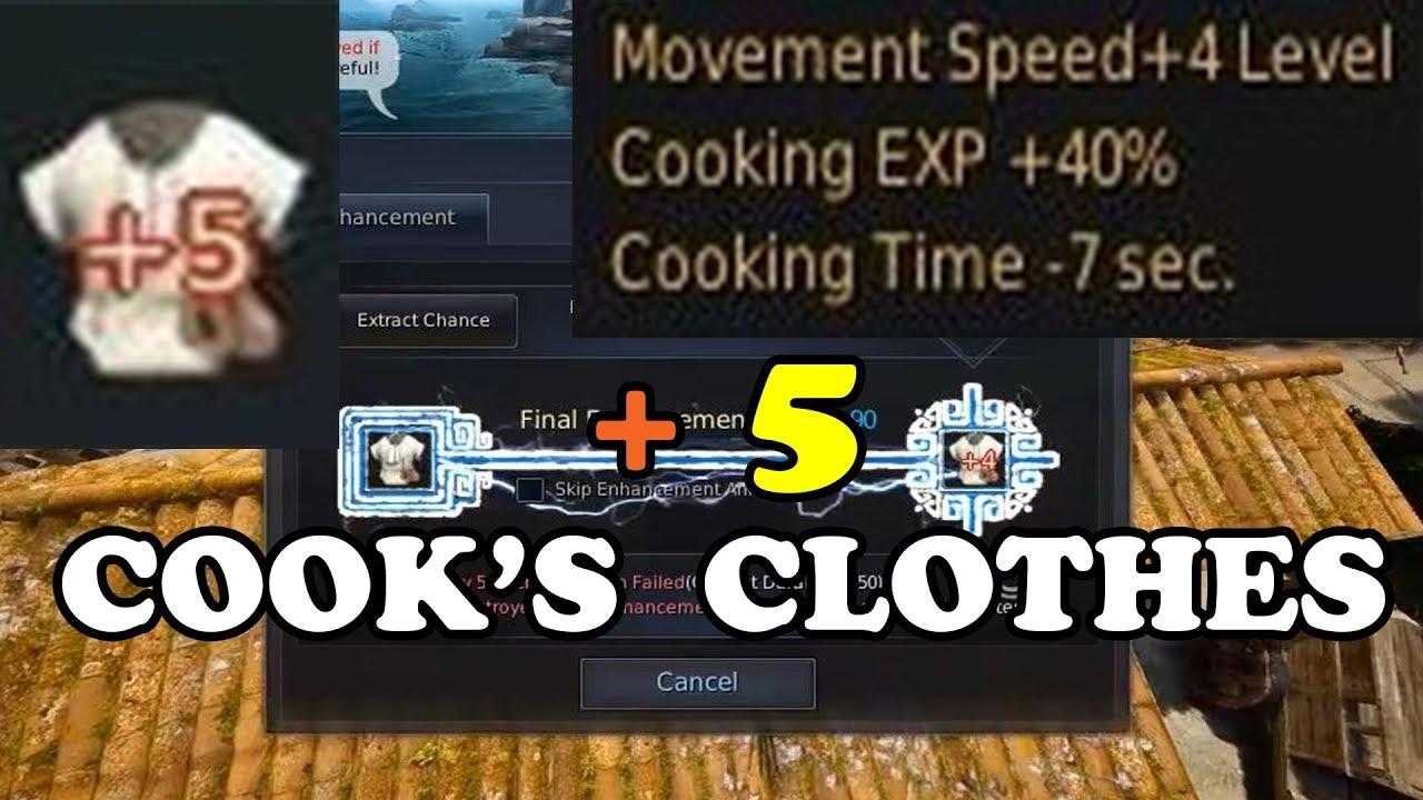 BDO | Enhancing +5 Cook's Clothes by DragonUZI