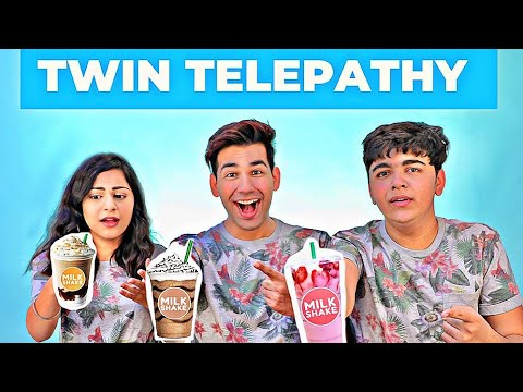 TWIN TELEPATHY MILKSHAKE CHALLENGE | Rimorav Vlogs - YouTube