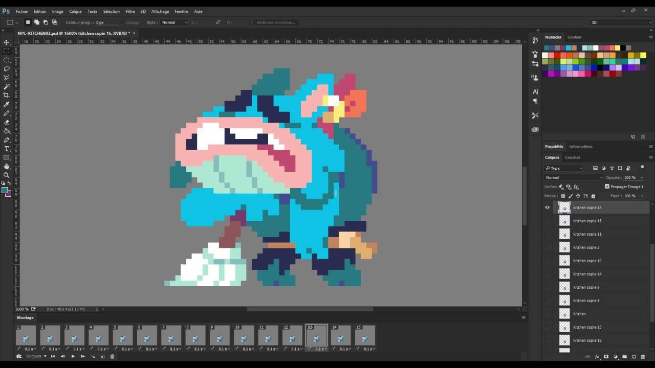 Animating Flinthook: The Janitor Time lapse - YouTube