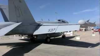 Navy Boeing EA-18G Growler EW & USAF Aerobatic Thunderbirds F-16 Salinas Airshow 2012