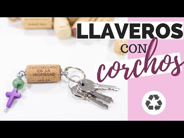 LLAVEROS con CORCHOS [Paso a paso] | Reciclaje