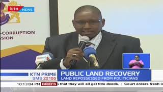 EACC has handed over recovered public lands to state agencies in Nakuru and Bomet
