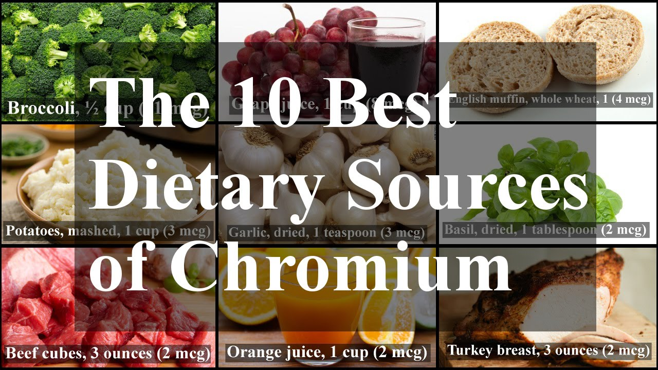 Chromium Requirements and Dietary Sources