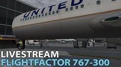 FlightFactor 767-300 full flight in X-Plane 10   KATL KORD