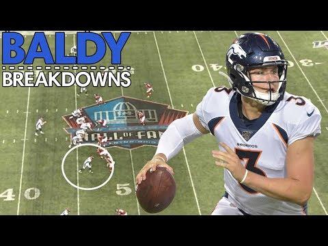 Analyzing Drew Lock's NFL Preseason Debut   Baldy Breakdowns