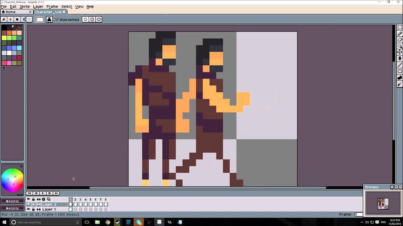 Pixel Art Animation Walk Cycle