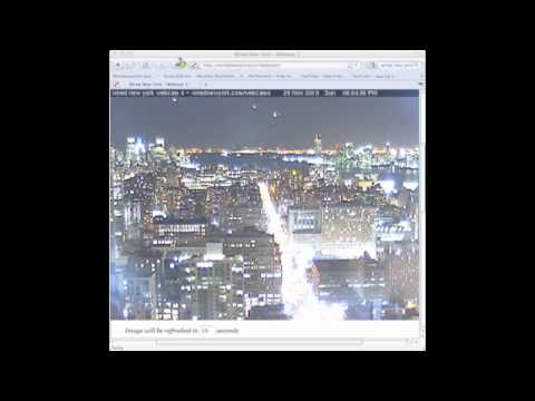 ufo webcam nyc 11/28/2010 more and more....shot within 40 minutes