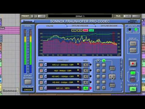 Sonnox Fraunhofer Pro-Codec Video