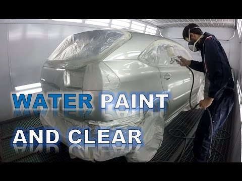 Water bsaed paint and clear spray