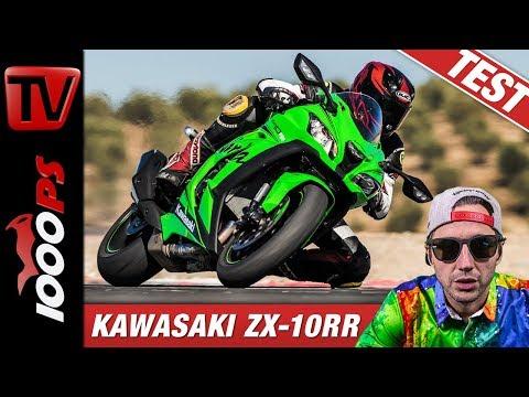 Kawasaki Ninja ZX-10RR Im Vergleichstest Auf Der Rennstrecke Beim Masterbike 2019