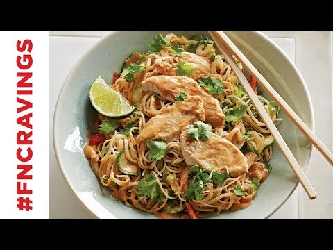 Chilled Peanut Chicken Noodle Salad | Food Network