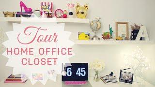 Tour pelo Home Office / Closet
