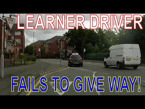 Learner Driver Mistakes : Learner Fails to Give Way at Junction!