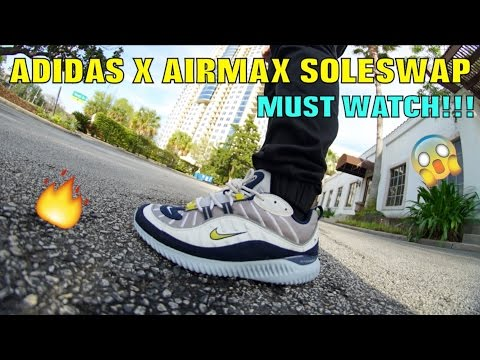 pretty nice d9734 14a90 ALPHA BOUNCE X NIKE AIRMAX FULL SOLESWAP!! (MUST WATCH) - YouTube