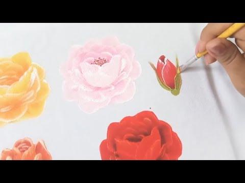 Pintura En Tela Para Principiantes Como Pintar Rosas En Tela