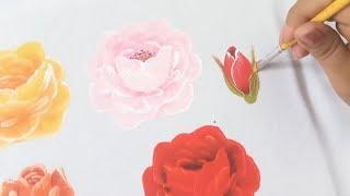 Pintura Textil Tutorial Como Pintar Rosas En Tela