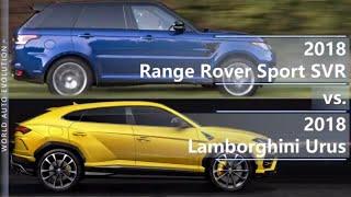 2018 Range Rover Sport SVR vs 2018 Lamborghini Urus (technical comparison)
