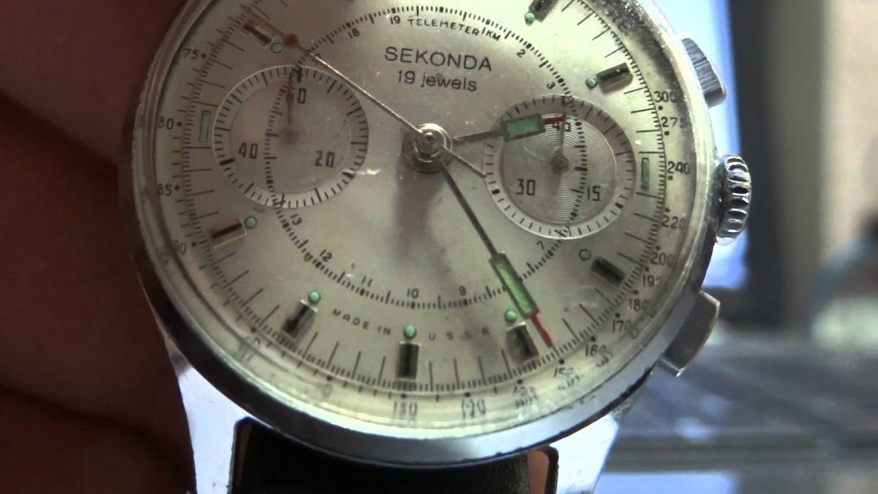 31af95f13f2d SEKONDA CHRONOGRAPH 3017 - STRELA - COSMOS - POLJOT - SOVIET - COLLECTIBLE  WATCH.