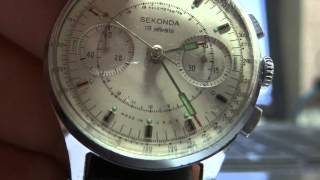 SEKONDA CHRONOGRAPH 3017 - STRELA - COSMOS - POLJOT - SOVIET - COLLECTIBLE WATCH.