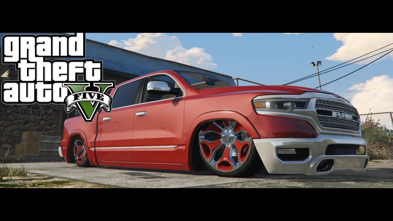 Custom Ram 1500 >> GTA V 2019 Dodge Ram 1500 Bagged - YouTube