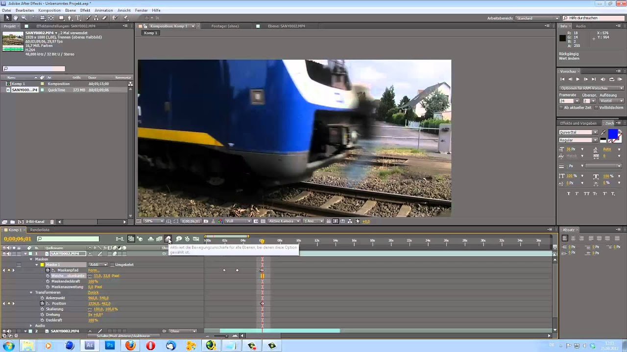 Adobe After Effects // Zug-Tutorial // AndreasM7 - YouTube