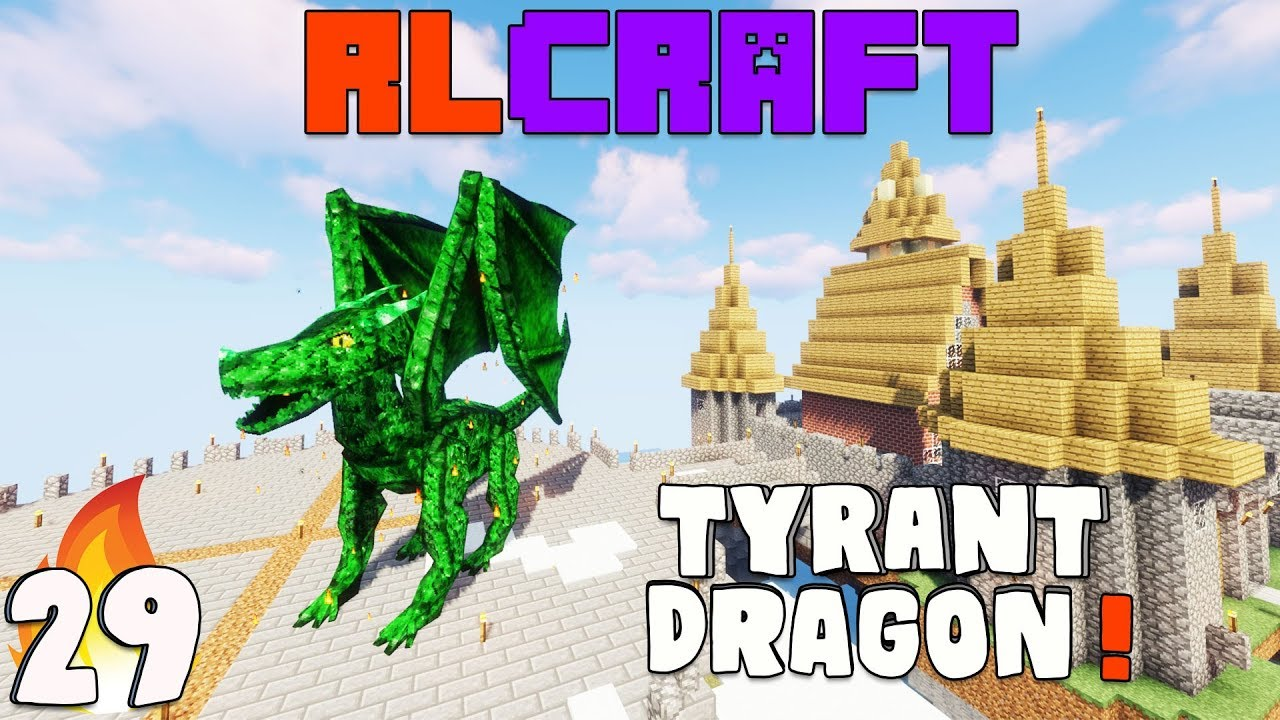Rlcraft Taming Tyrant Dragon Ep 29 Hardest Modpack Wt Akan22 Minecraft Hindi