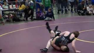 HYW's Lane O'Dell's match at NC State Elementary Wrestling Championship